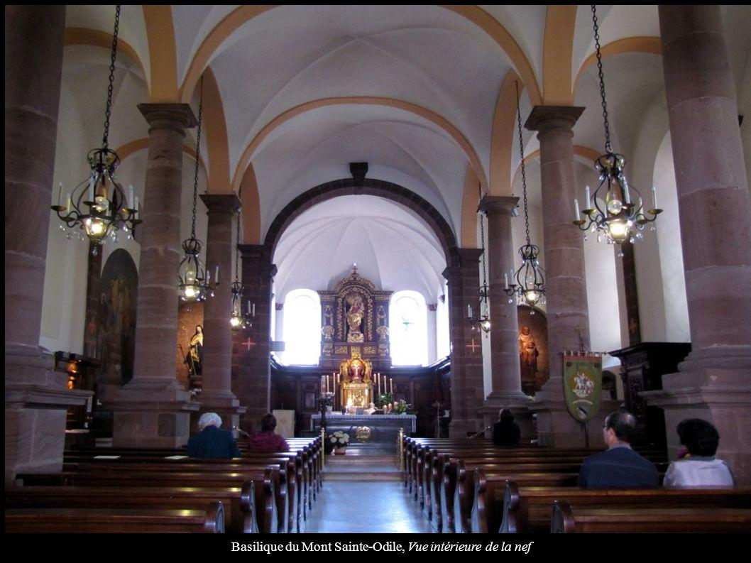 Basilique du Mont Sainte-Odile, Vue intérieure de la nef