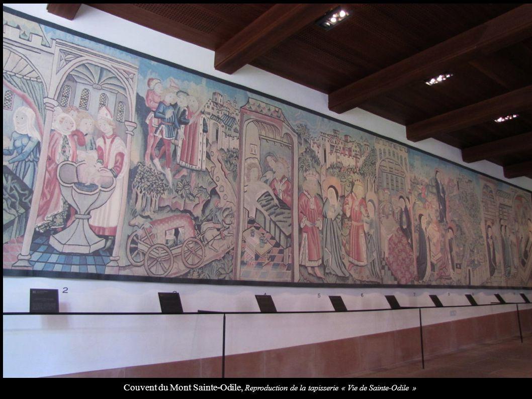 Couvent du Mont Sainte-Odile, Reproduction de la tapisserie « Vie de Sainte-Odile »