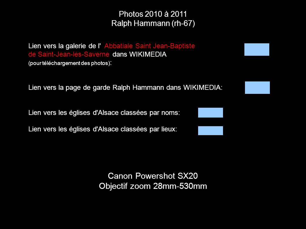 Canon Powershot SX20 Objectif zoom 28mm-530mm Photos 2010 à 2011