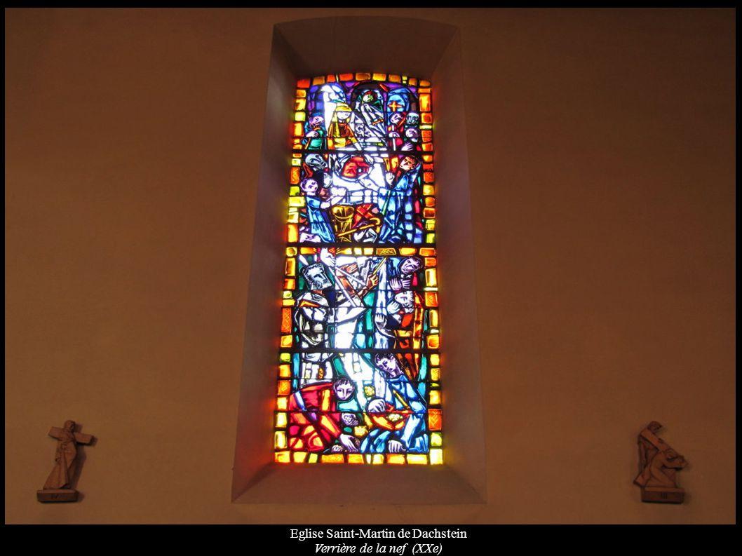 Eglise Saint-Martin de Dachstein Verrière de la nef (XXe)
