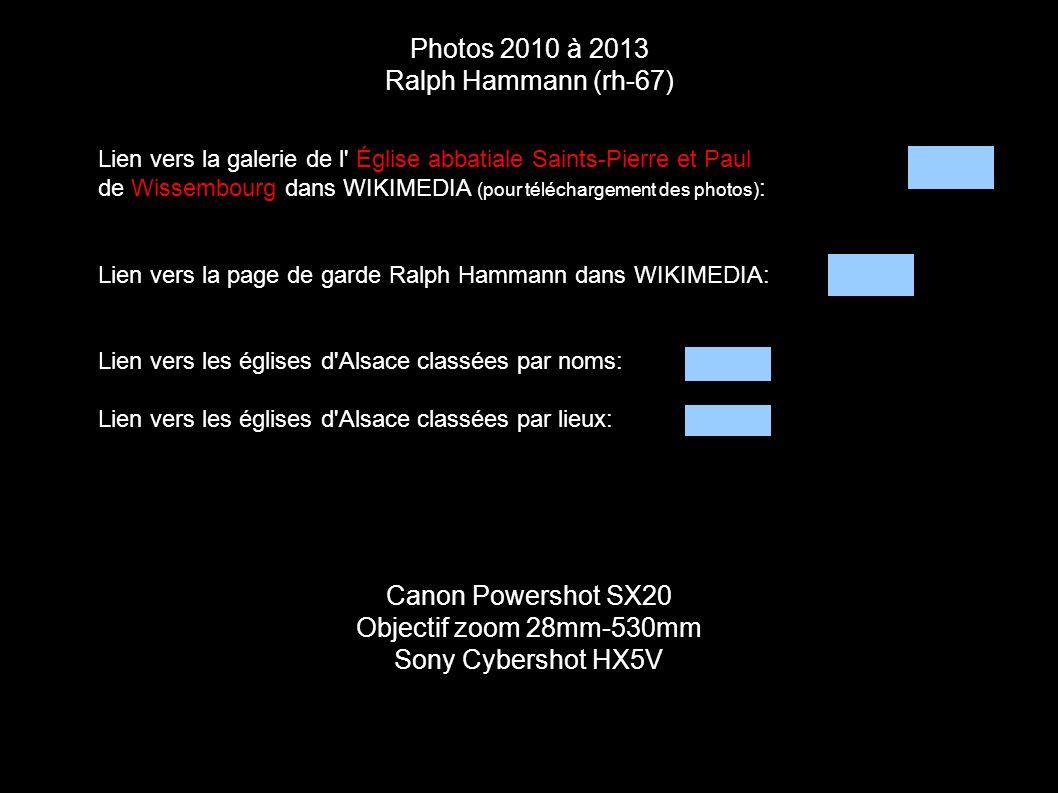 Photos 2010 à 2013 Ralph Hammann (rh-67) Canon Powershot SX20