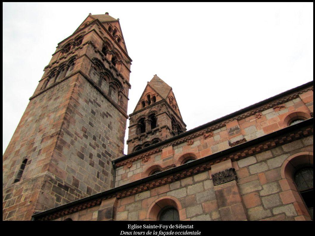 Eglise Sainte-Foy de Sélestat Deux tours de la façade occidentale
