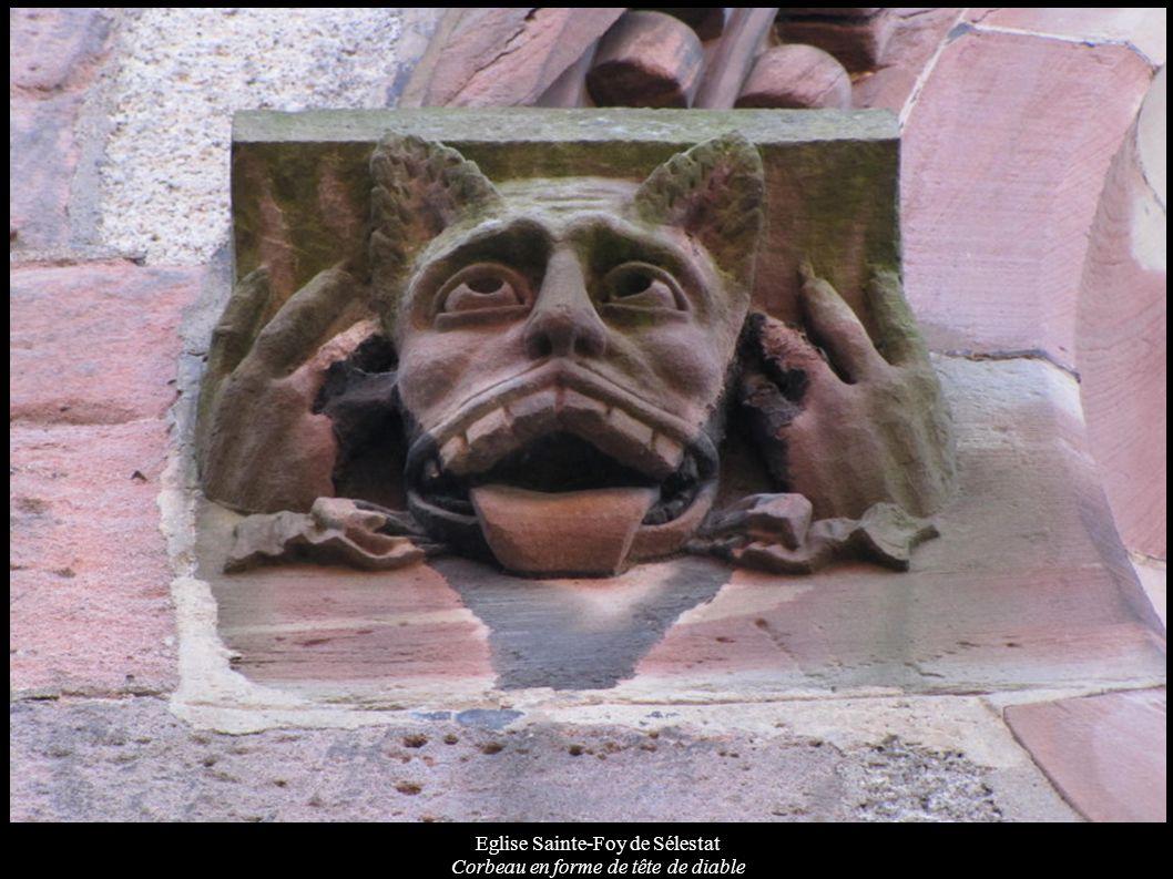 Eglise Sainte-Foy de Sélestat Corbeau en forme de tête de diable
