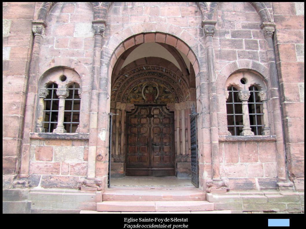 Eglise Sainte-Foy de Sélestat Façade occidentale et porche