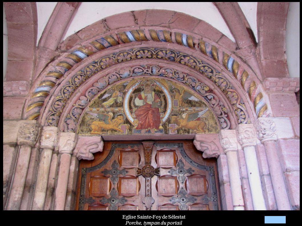 Eglise Sainte-Foy de Sélestat Porche, tympan du portail