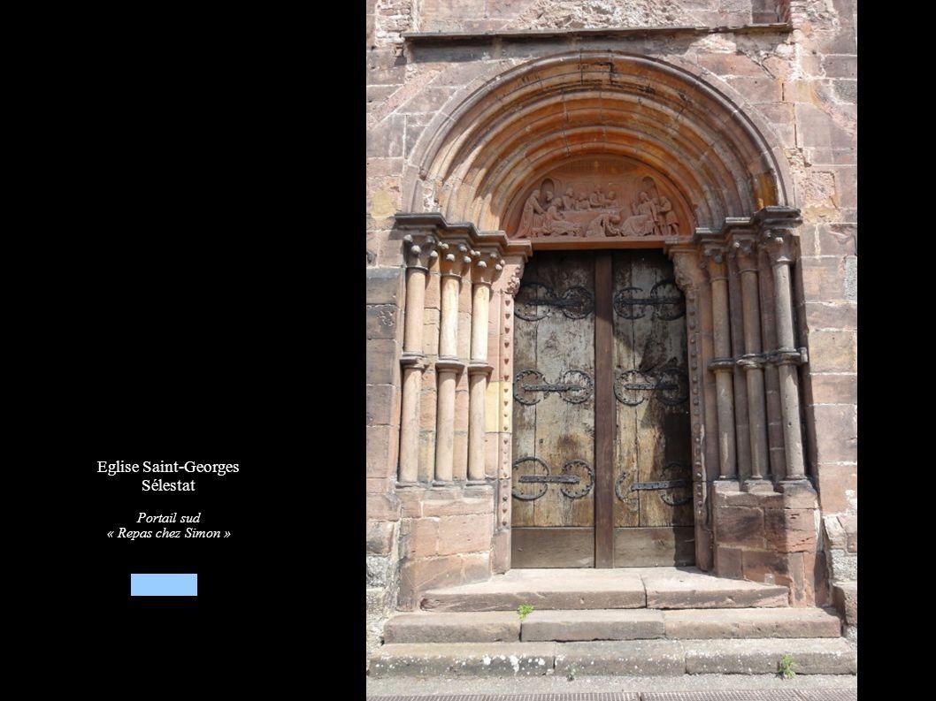 Eglise Saint-Georges Sélestat Portail sud « Repas chez Simon »