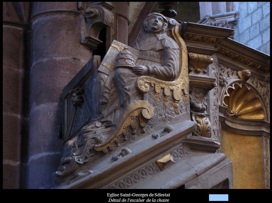 Eglise Saint-Georges de Sélestat Détail de l escalier de la chaire