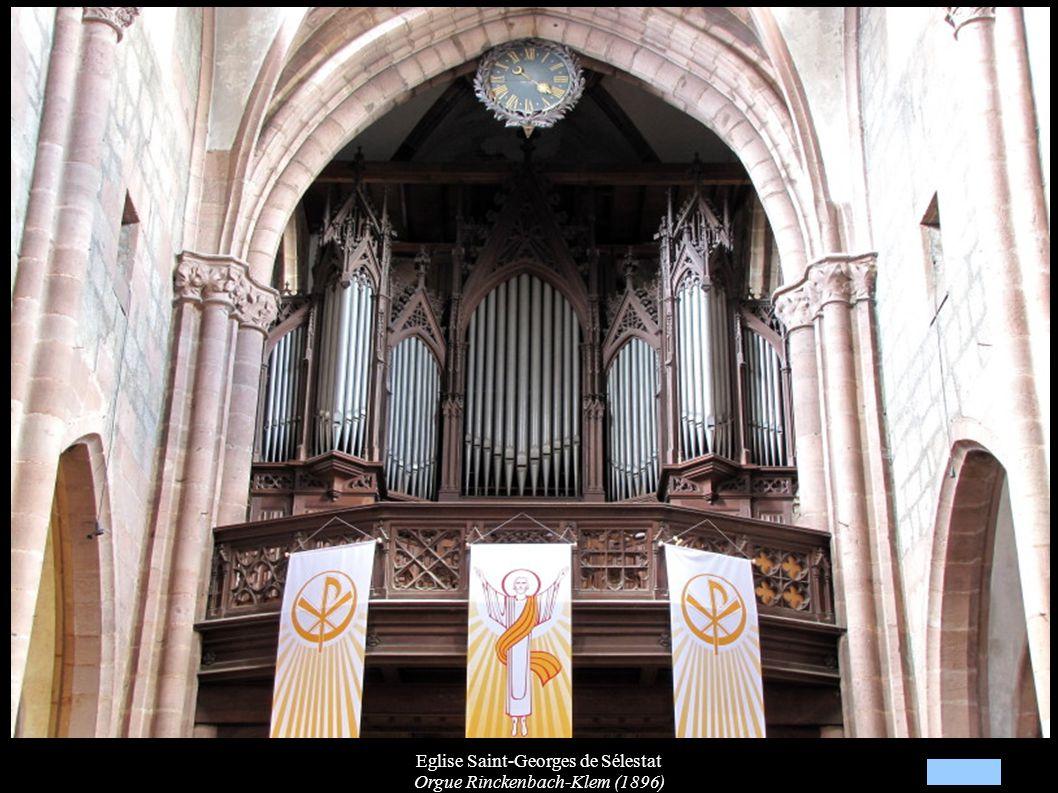Eglise Saint-Georges de Sélestat Orgue Rinckenbach-Klem (1896)