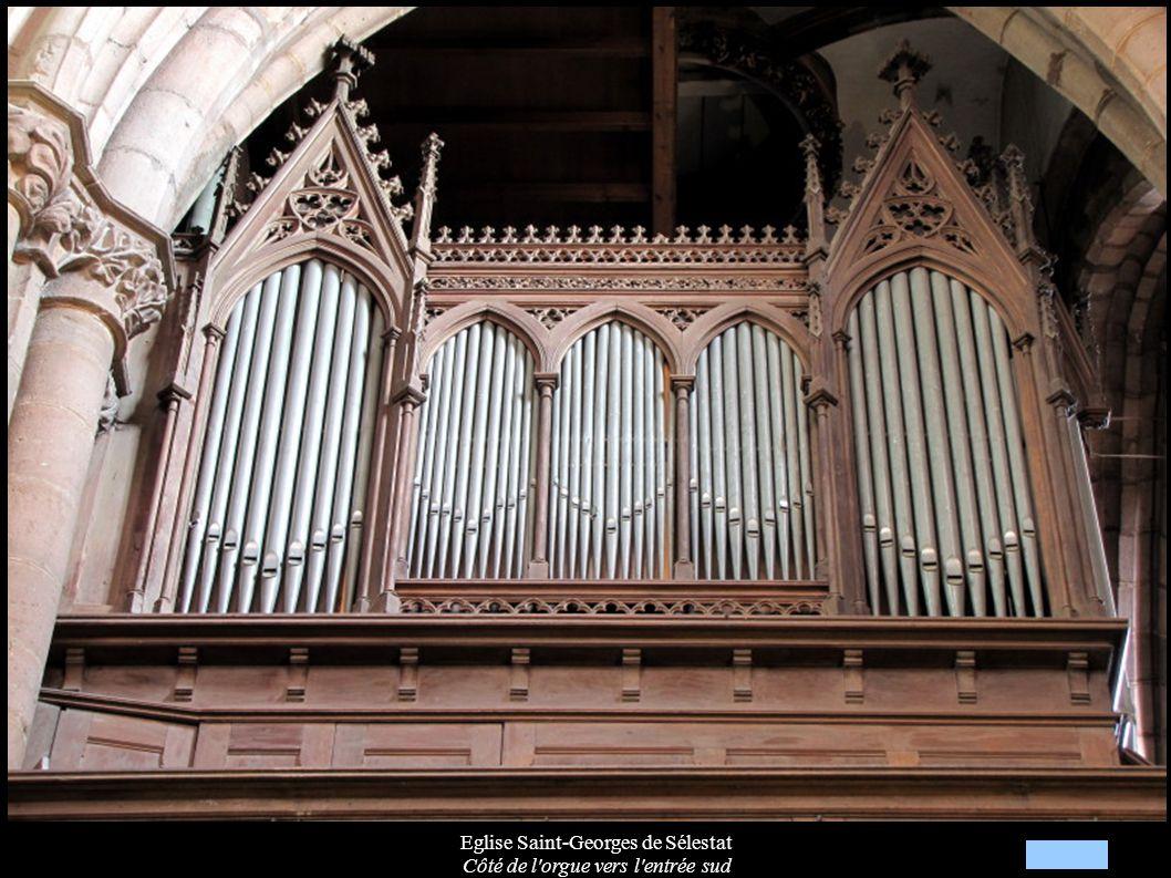 Eglise Saint-Georges de Sélestat Côté de l orgue vers l entrée sud