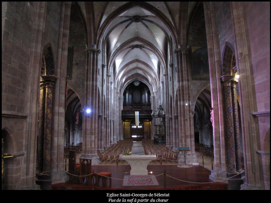 Eglise Saint-Georges de Sélestat Vue de la nef à partir du chœur