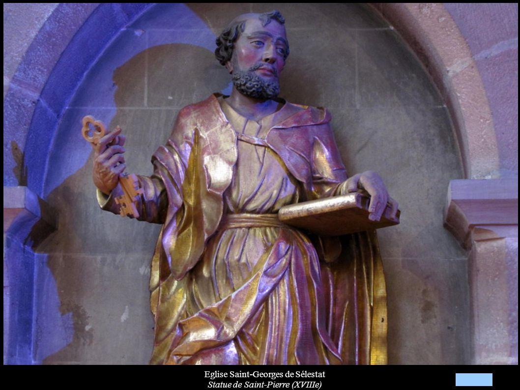 Eglise Saint-Georges de Sélestat Statue de Saint-Pierre (XVIIIe)