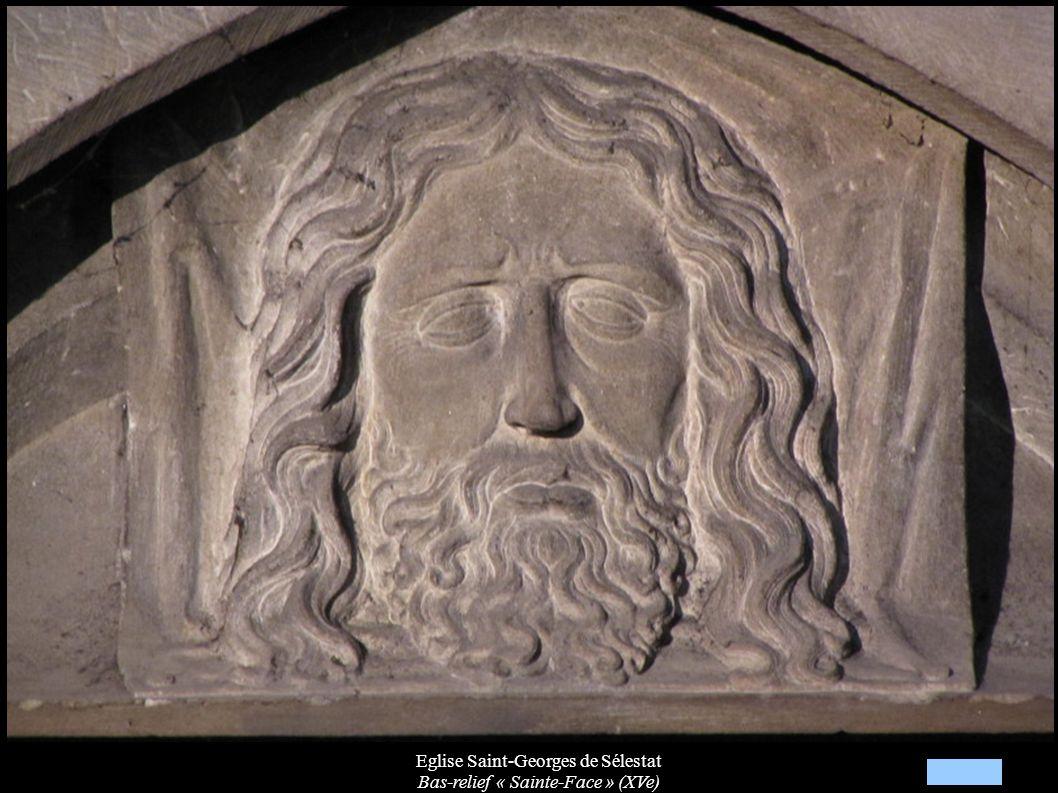 Eglise Saint-Georges de Sélestat Bas-relief « Sainte-Face » (XVe)