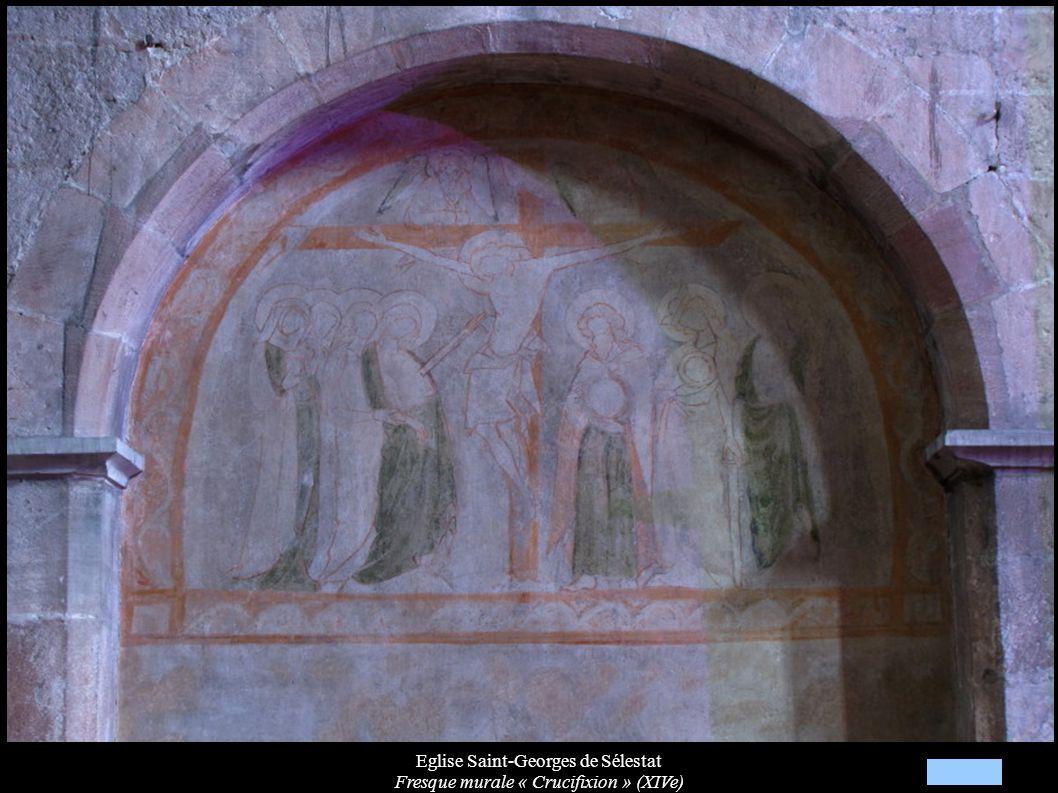 Eglise Saint-Georges de Sélestat Fresque murale « Crucifixion » (XIVe)