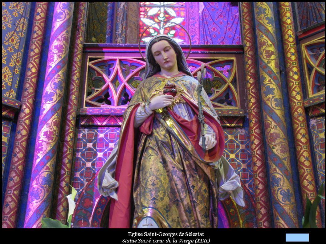 Eglise Saint-Georges de Sélestat Statue Sacré-cœur de la Vierge (XIXe)