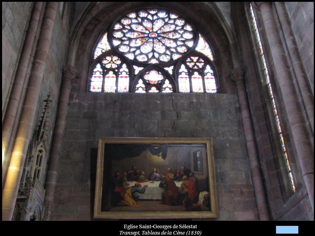 Eglise Saint-Georges de Sélestat Transept, Tableau de la Cène (1830)