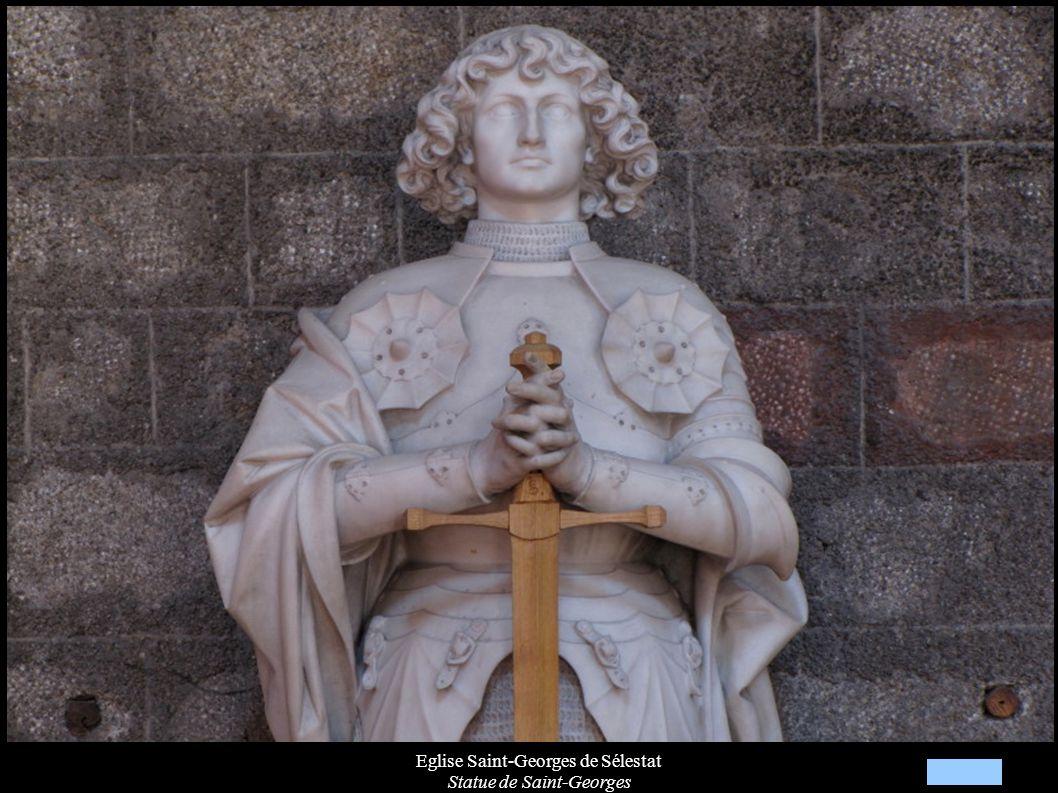 Eglise Saint-Georges de Sélestat Statue de Saint-Georges