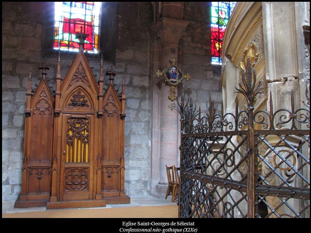 Eglise Saint-Georges de Sélestat Confessionnal néo-gothique (XIXe)