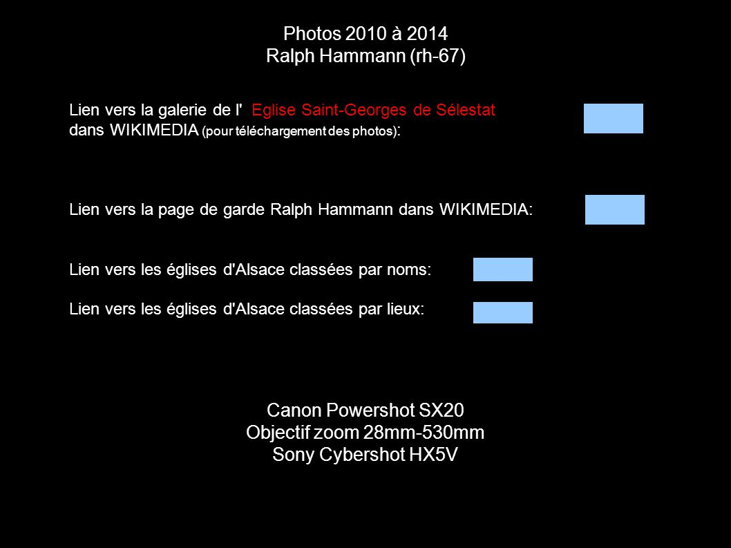 Photos 2010 à 2014 Ralph Hammann (rh-67) Canon Powershot SX20