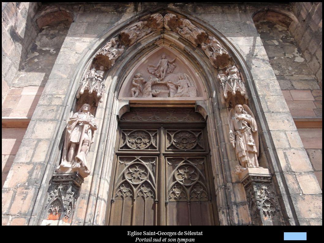 Eglise Saint-Georges de Sélestat Portail sud et son tympan