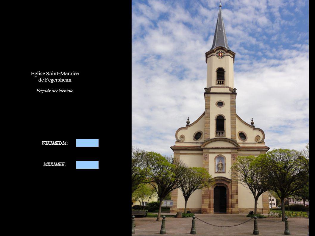 Eglise Saint-Maurice de Fegersheim Façade occidentale WIKIMEDIA: