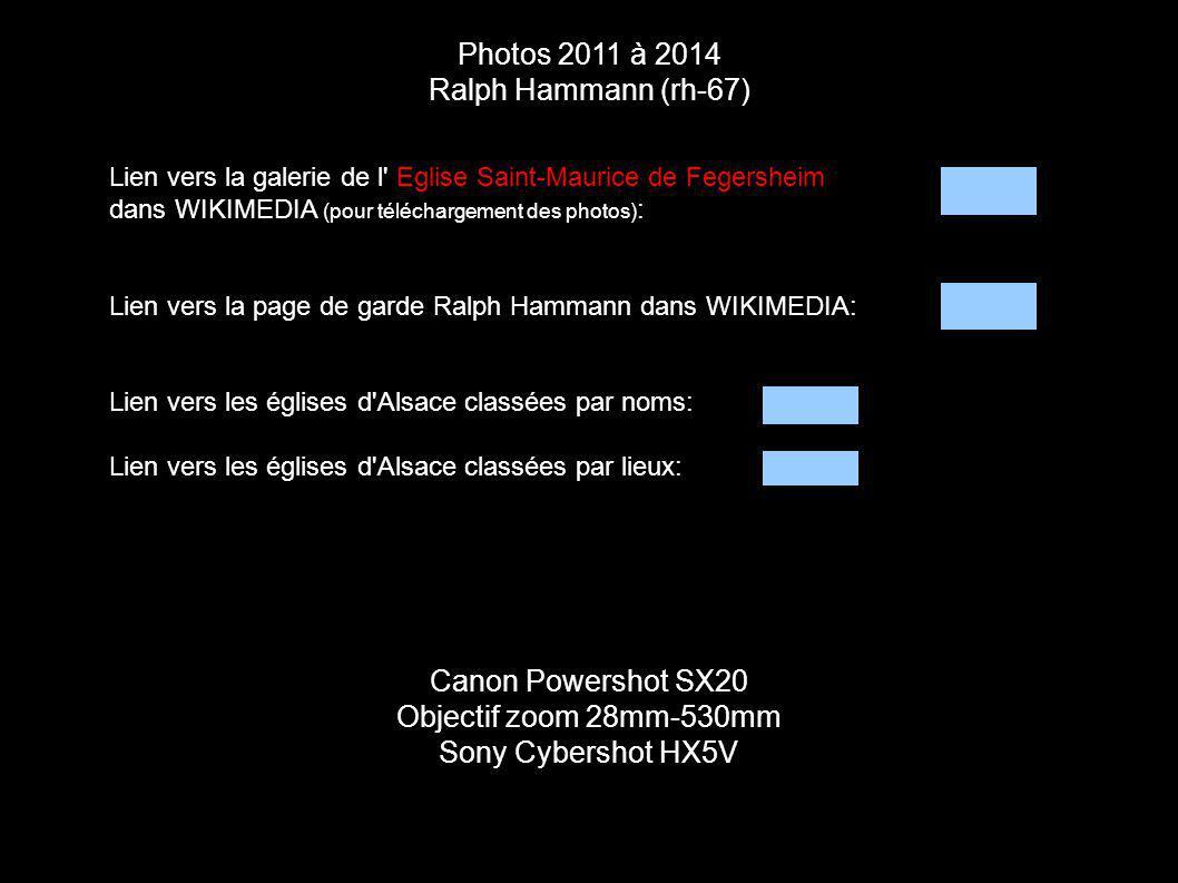 Photos 2011 à 2014 Ralph Hammann (rh-67) Canon Powershot SX20