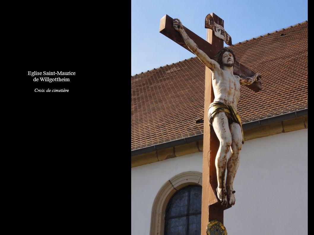 Eglise Saint-Maurice de Willgottheim Croix de cimetière