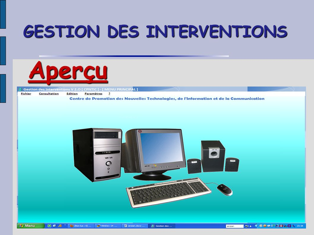 GESTION DES INTERVENTIONS