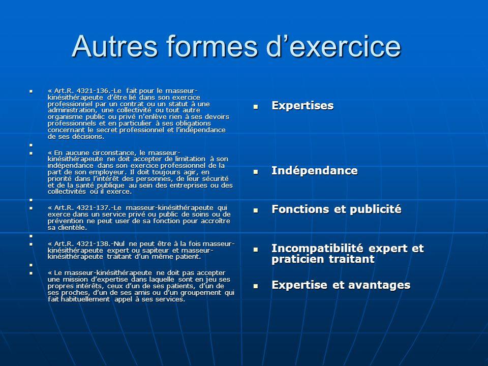 Autres formes d'exercice