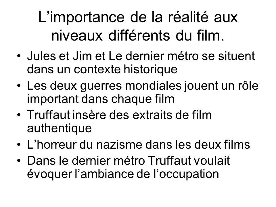 L'importance de la réalité aux niveaux différents du film.