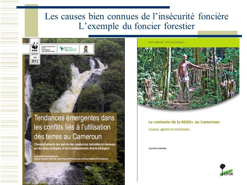 Les causes bien connues de l'insécurité foncière L'exemple du foncier forestier
