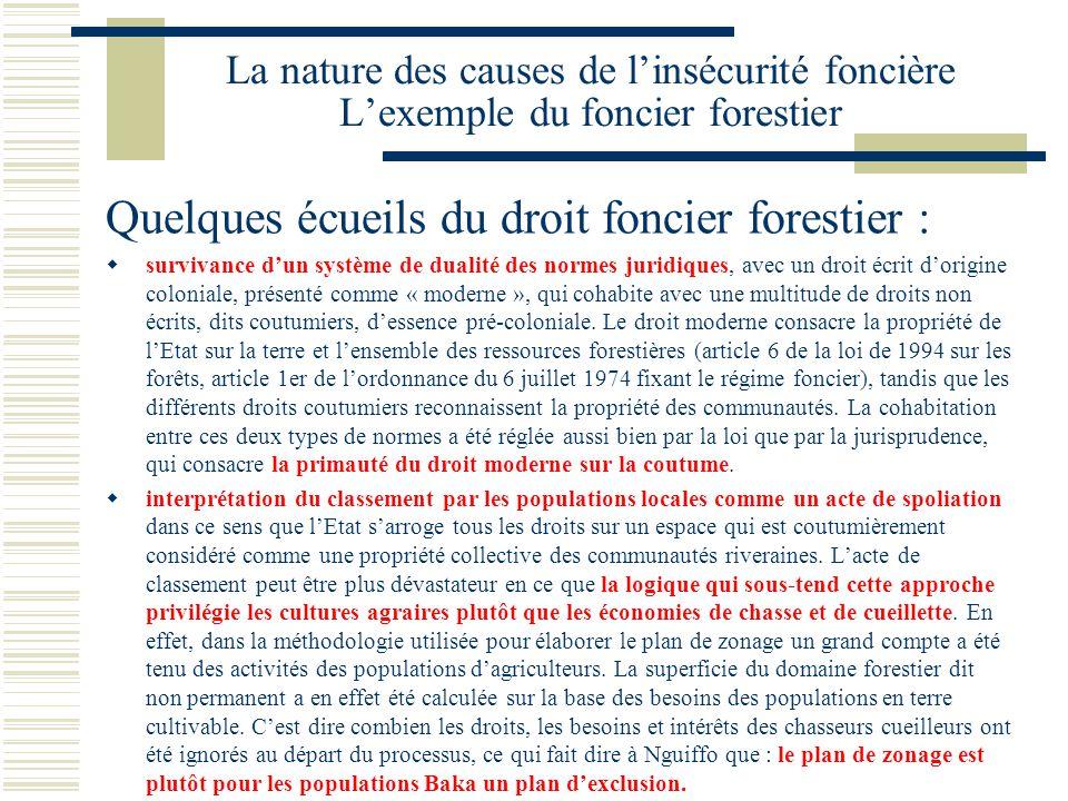 Quelques écueils du droit foncier forestier :