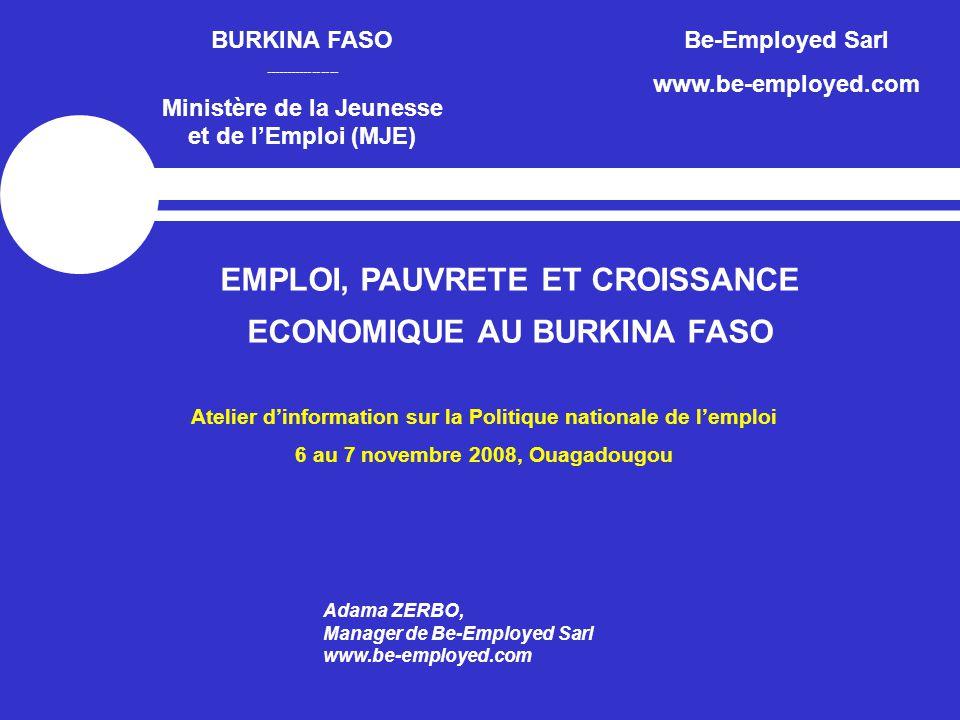 EMPLOI, PAUVRETE ET CROISSANCE ECONOMIQUE AU BURKINA FASO