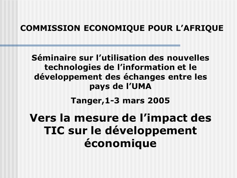 Vers la mesure de l'impact des TIC sur le développement économique