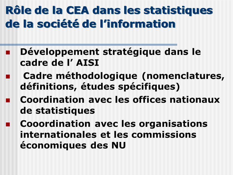 Rôle de la CEA dans les statistiques de la société de l'information