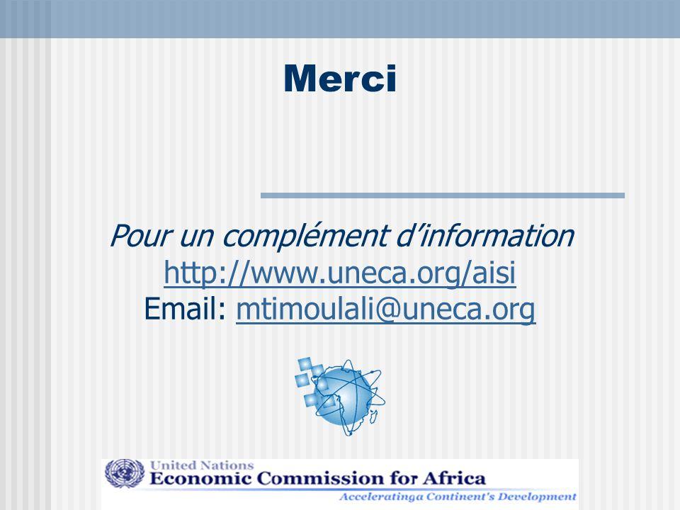 Merci Pour un complément d'information http://www.uneca.org/aisi