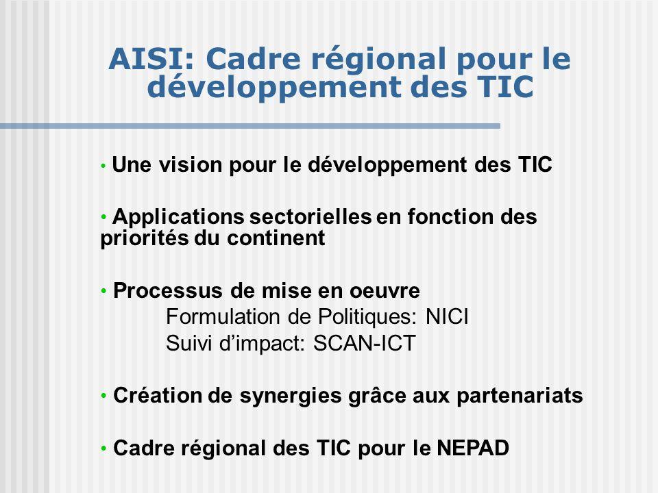 AISI: Cadre régional pour le développement des TIC