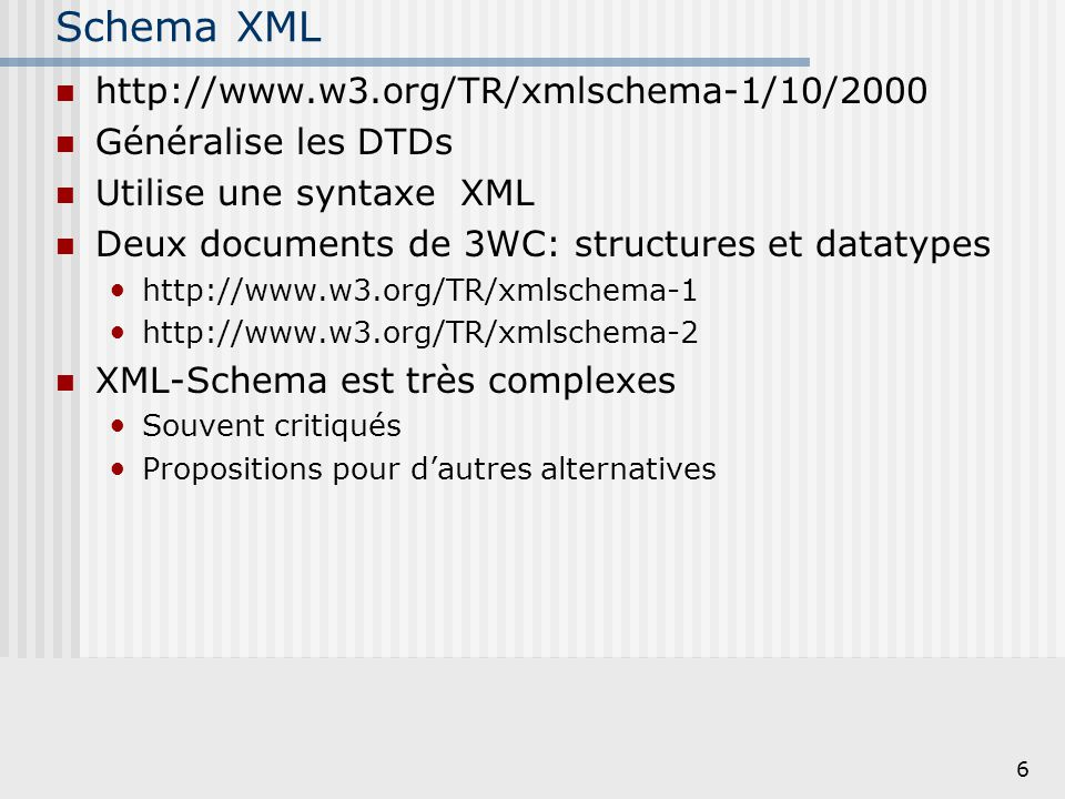 Schema XML http://www.w3.org/TR/xmlschema-1/10/2000