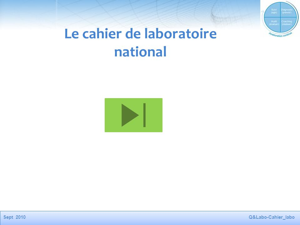 Le cahier de laboratoire national