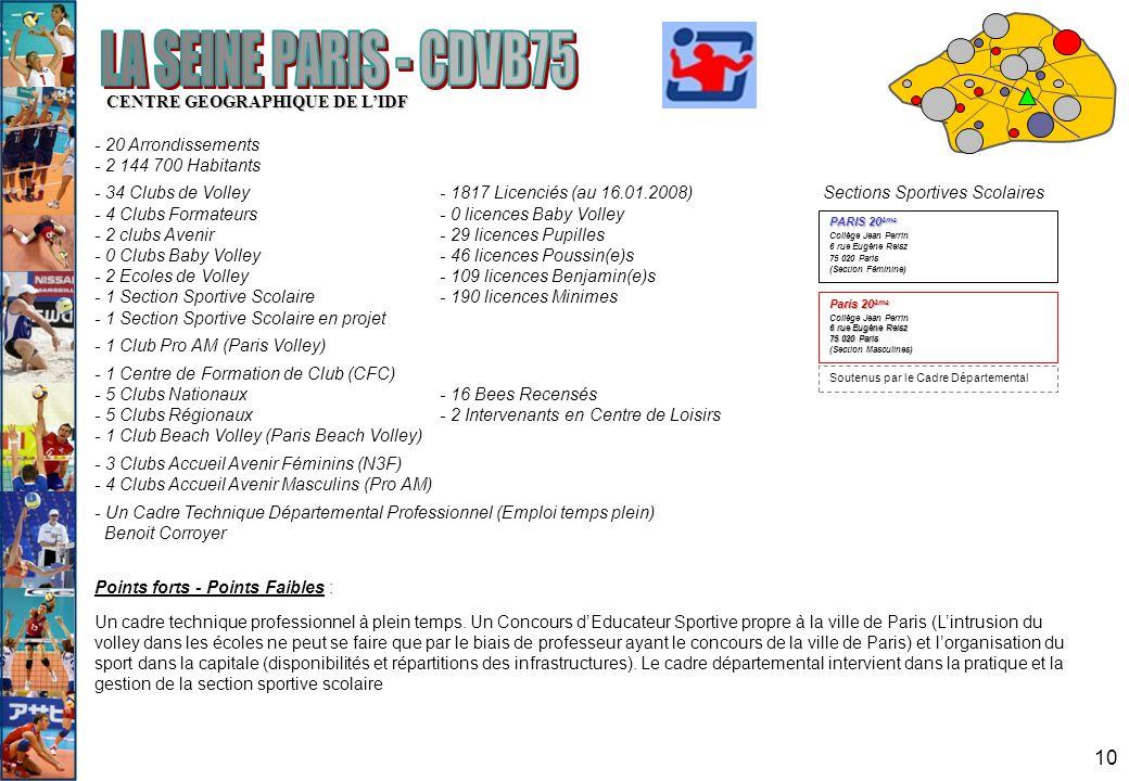 LA SEINE PARIS - CDVB75 CENTRE GEOGRAPHIQUE DE L'IDF