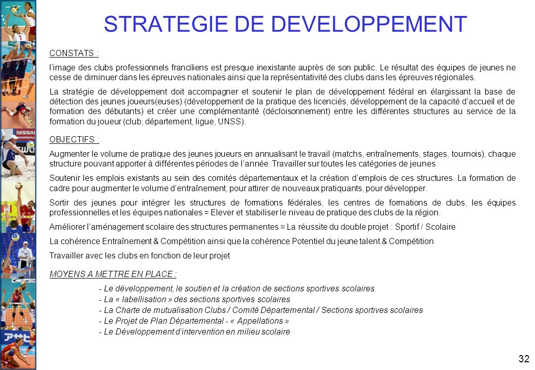 STRATEGIE DE DEVELOPPEMENT