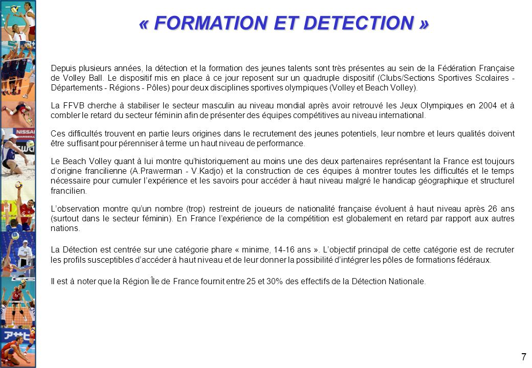 « FORMATION ET DETECTION »