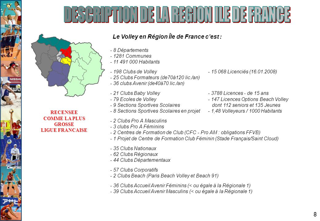 DESCRIPTION DE LA REGION ILE DE FRANCE