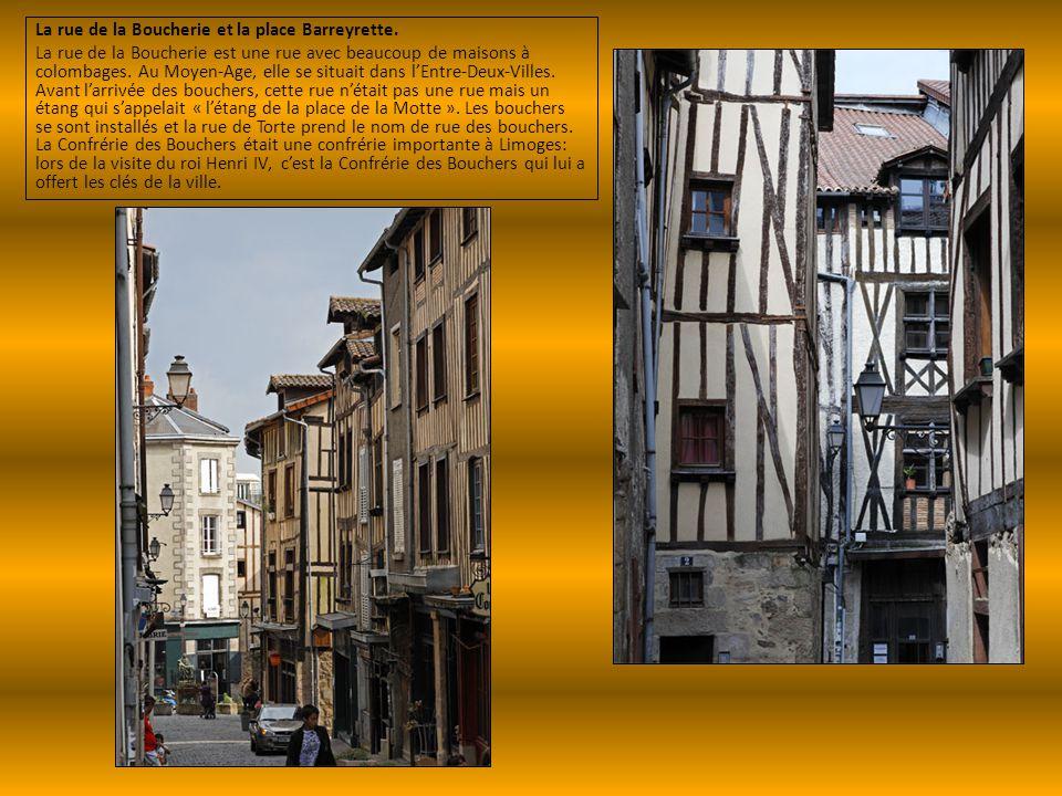La rue de la Boucherie et la place Barreyrette.