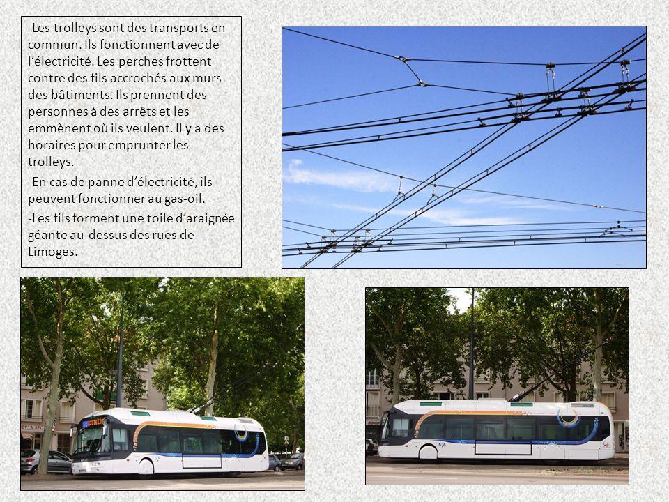 Les trolleys sont des transports en commun