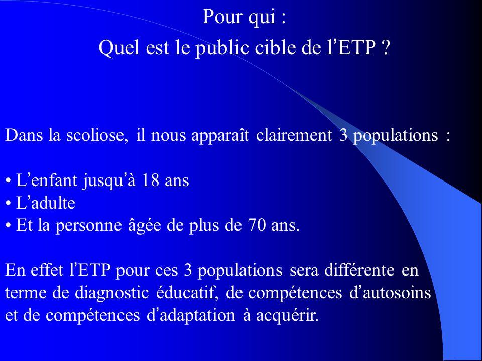 Quel est le public cible de l'ETP