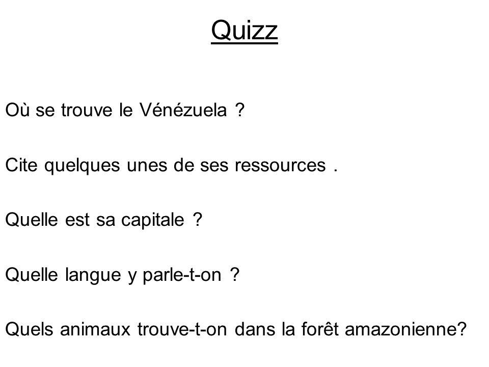 Quizz Où se trouve le Vénézuela