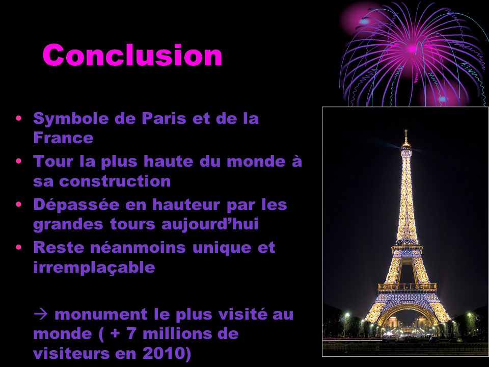 Conclusion Symbole de Paris et de la France