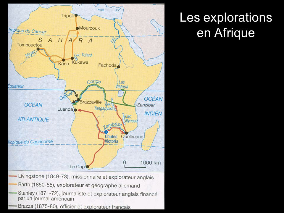 Les explorations en Afrique