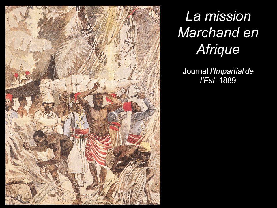 La mission Marchand en Afrique Journal l'Impartial de l'Est, 1889