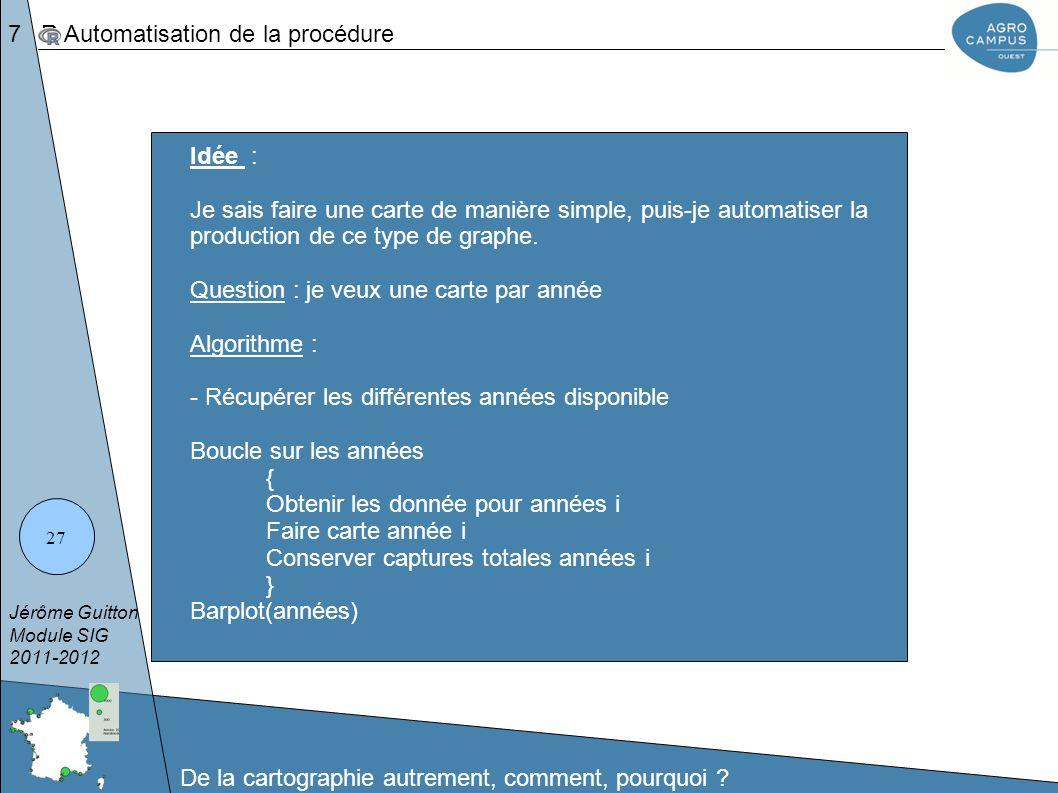 7 R Automatisation de la procédure